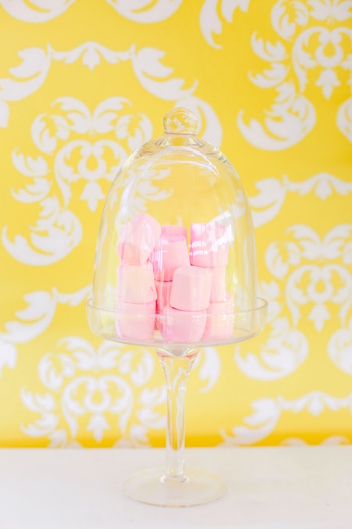 Pink marshmallows from a Princess Belle Beauty and the Beast Birthday Party on Kara's Party Ideas | KarasPartyIdeas.com (30)