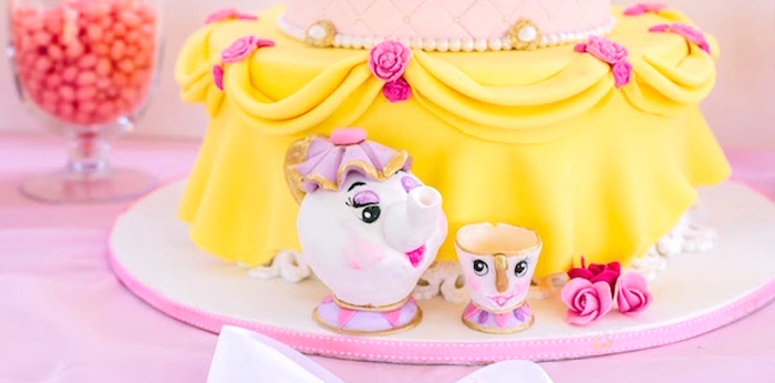 Princess Belle Beauty and the Beast Birthday Party on Kara's Party Ideas | KarasPartyIdeas.com (2)