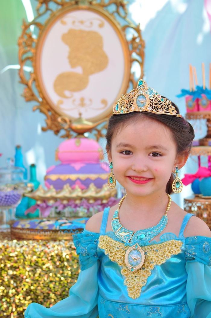 Princess Jasmine from a Princess Jasmine Arabian Nights Birthday Party on Kara's Party Ideas | KarasPartyIdeas.com (38)
