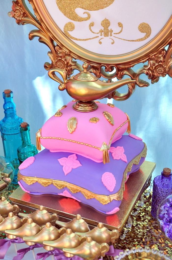 Kara 39 s party ideas princess jasmine arabian nights for Arabian cake decoration