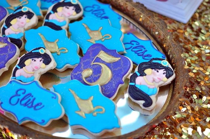 Aladdin themed sugar cookies from a Princess Jasmine Arabian Nights Birthday Party on Kara's Party Ideas | KarasPartyIdeas.com (35)