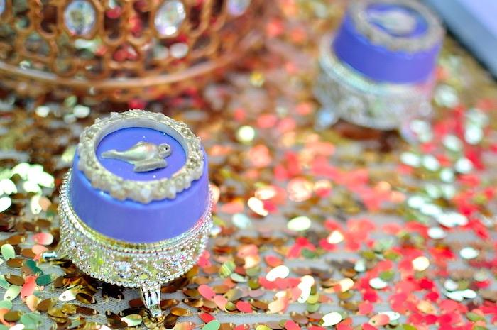 Chocolate covered Genie Lamp Oreo from a Princess Jasmine Arabian Nights Birthday Party on Kara's Party Ideas | KarasPartyIdeas.com (31)