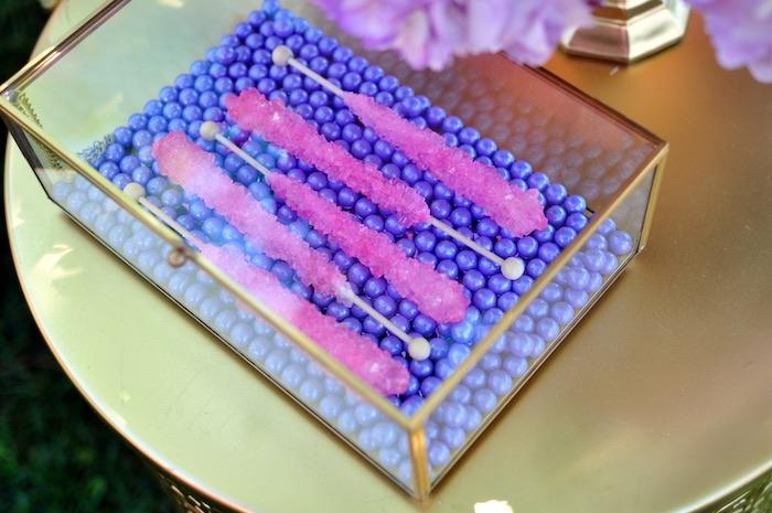 Rock candy sticks from a Princess Jasmine Arabian Nights Birthday Party on Kara's Party Ideas | KarasPartyIdeas.com (29)
