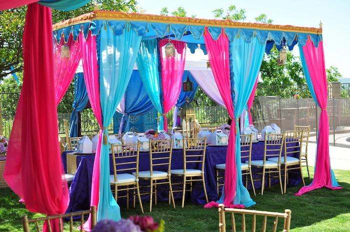 Princess Jasmine Arabian Nights Birthday Party on Kara's Party Ideas | KarasPartyIdeas.com (22)