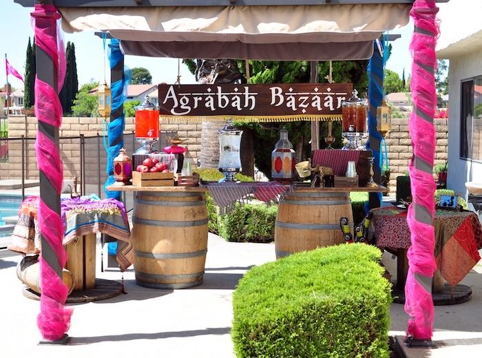 Agrabah Bazaar from a Princess Jasmine Arabian Nights Birthday Party on Kara's Party Ideas | KarasPartyIdeas.com (19)