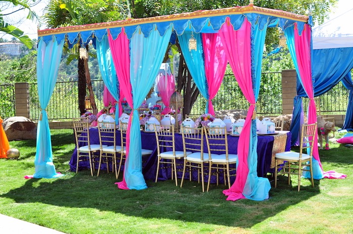 Party Tent Guest Table From A Princess Jasmine Arabian Nights Birthday On Karas