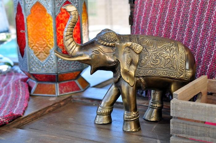 Indian elephant decoration from a Princess Jasmine Arabian Nights Birthday Party on Kara's Party Ideas | KarasPartyIdeas.com (14)