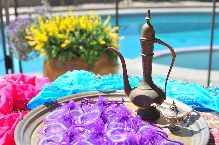 Arabian/Indian lamps & bracelet favors from a Princess Jasmine Arabian Nights Birthday Party on Kara's Party Ideas | KarasPartyIdeas.com (13)
