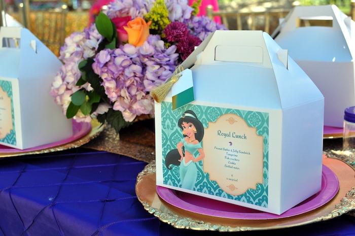 Place setting from a Princess Jasmine Arabian Nights Birthday Party on Kara's Party Ideas | KarasPartyIdeas.com (42)