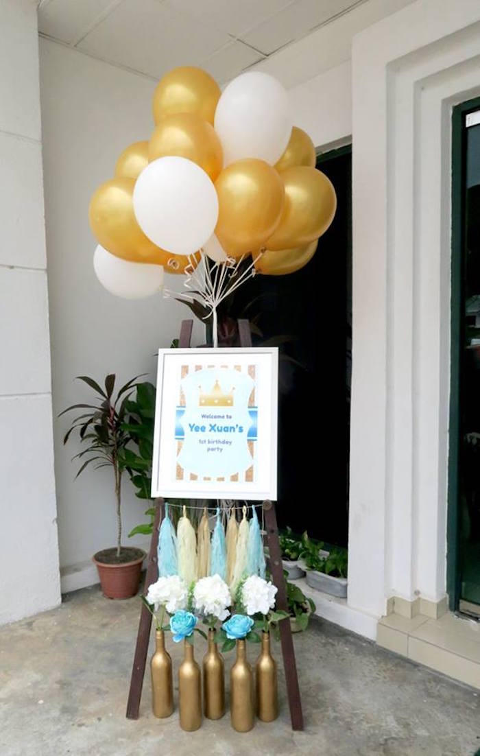 Kara S Party Ideas Royal Prince First Birthday Party