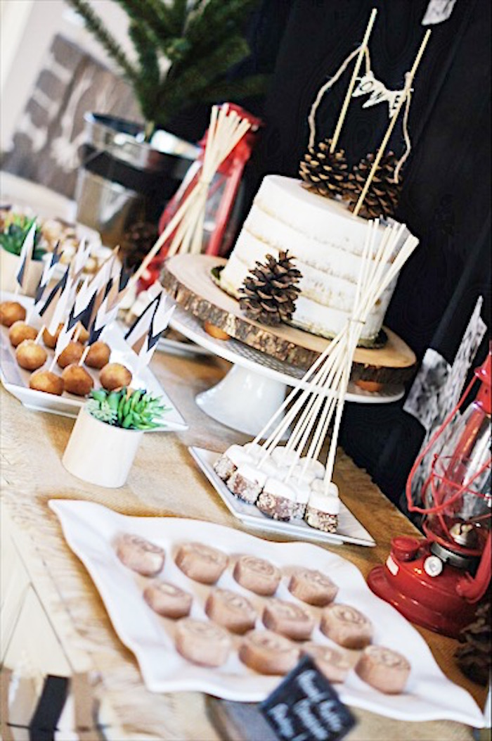 Rustic Camping First Birthday Party on Kara's Party Ideas | KarasPartyIdeas.com (21)