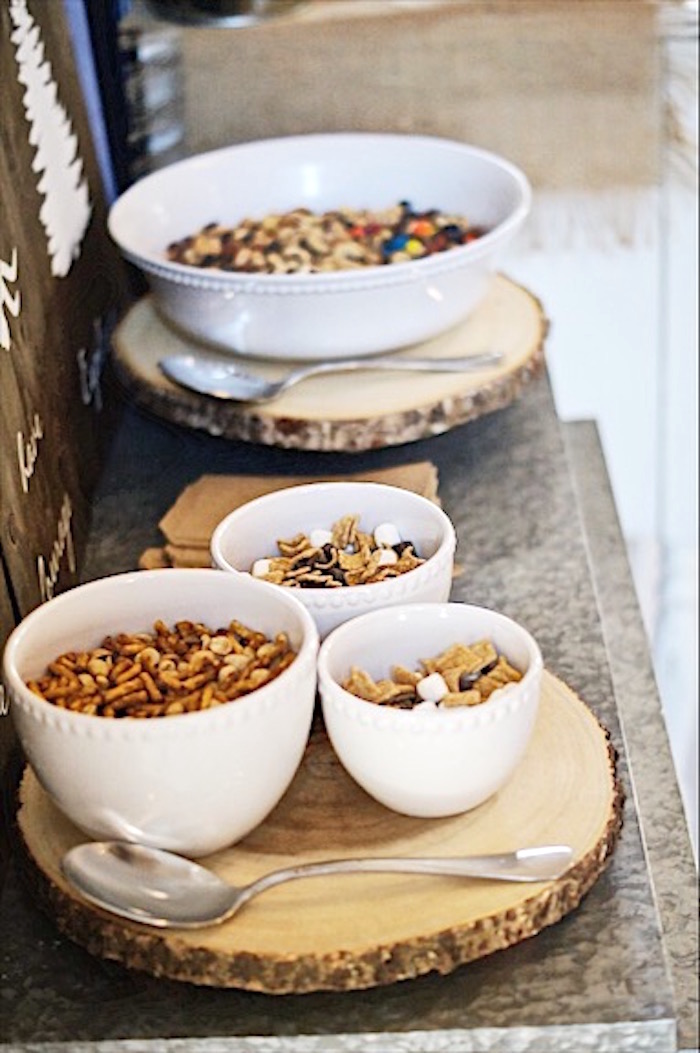 Trail mix from a Rustic Camping First Birthday Party on Kara's Party Ideas | KarasPartyIdeas.com (17)