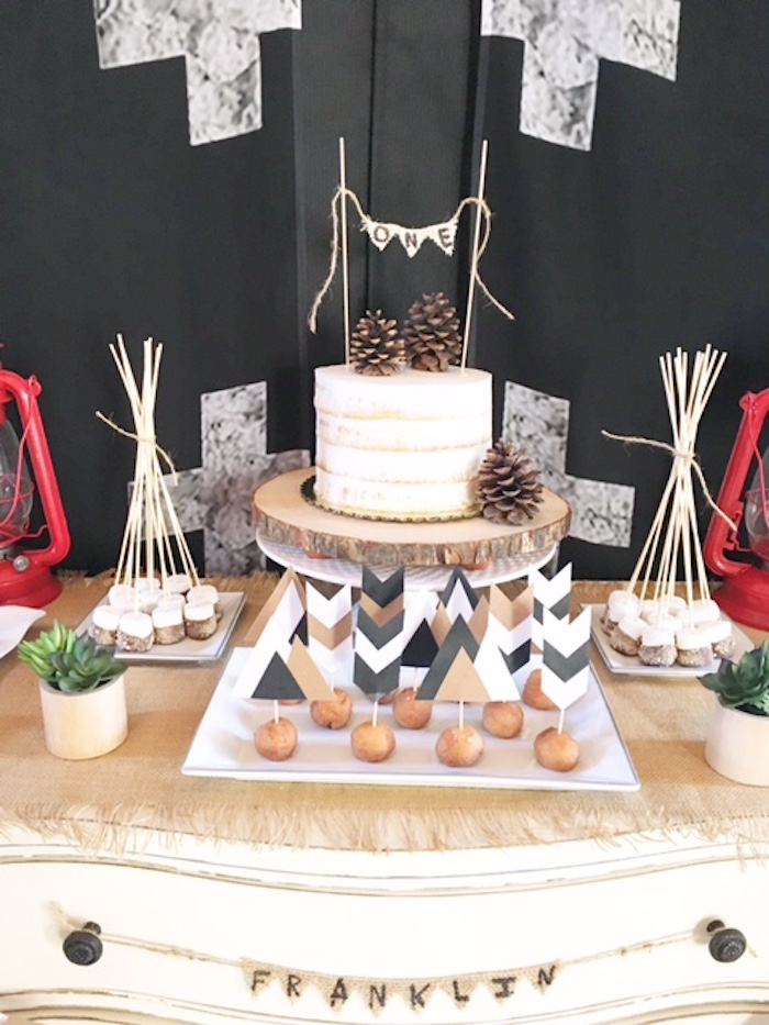 Rustic Camping First Birthday Party