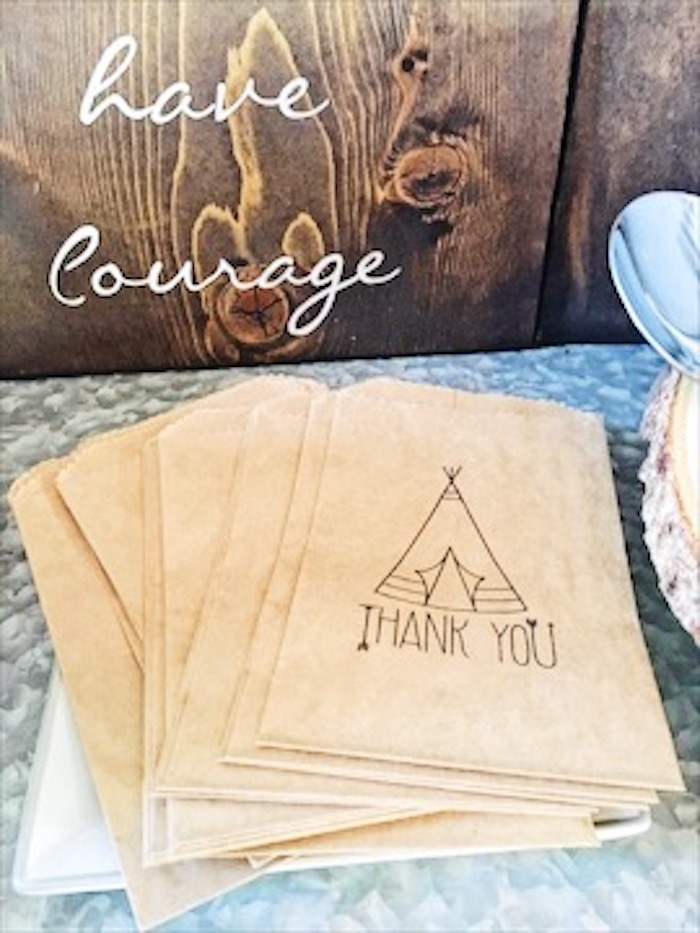 Teepee printed snack sacks from a Rustic Camping First Birthday Party on Kara's Party Ideas | KarasPartyIdeas.com (11)