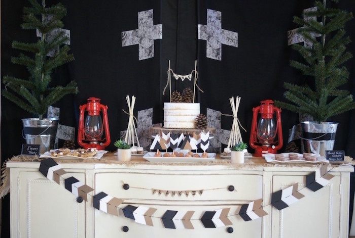 Rustic Camping First Birthday Party on Kara's Party Ideas | KarasPartyIdeas.com (29)