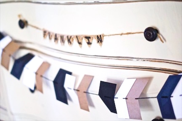 Bunting from a Rustic Camping First Birthday Party on Kara's Party Ideas | KarasPartyIdeas.com (22)