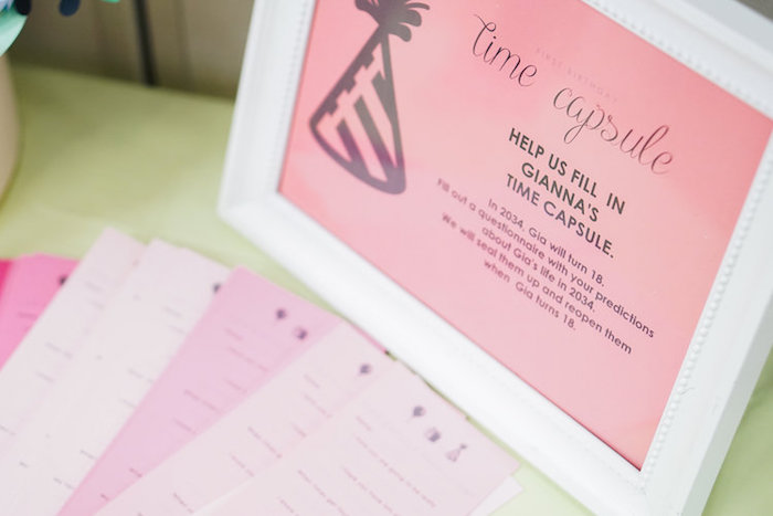 Time Capsule Print from a Spring Inspired 1st Birthday Party on Kara's Party Ideas | KarasPartyIdeas.com (15)