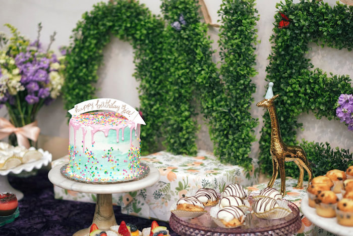 Spring Inspired 1st Birthday Party on Kara's Party Ideas | KarasPartyIdeas.com (9)