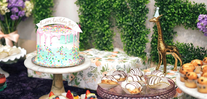 Spring Inspired 1st Birthday Party on Kara's Party Ideas | KarasPartyIdeas.com (3)