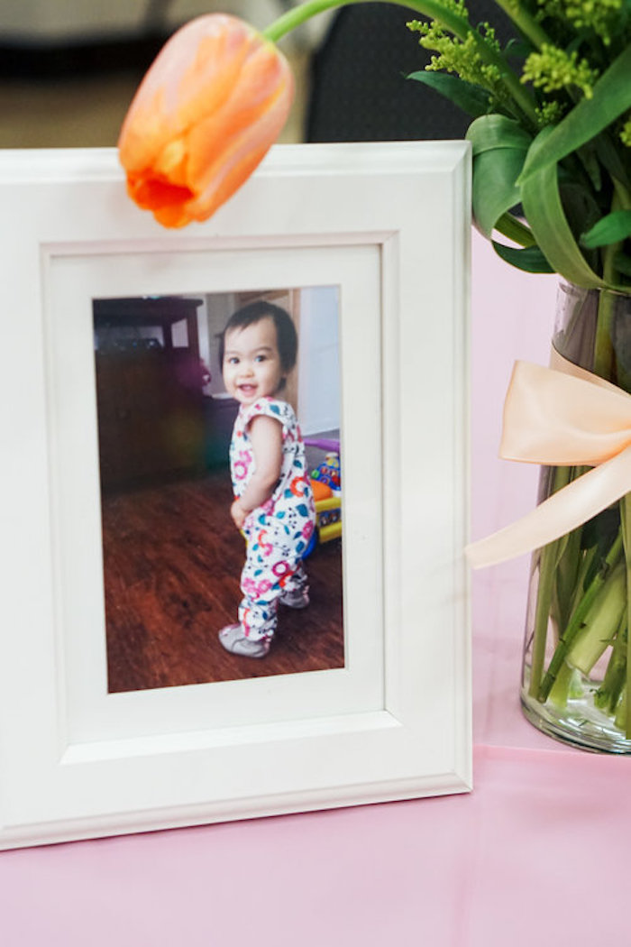 Framed photo from a Spring Inspired 1st Birthday Party on Kara's Party Ideas | KarasPartyIdeas.com (24)