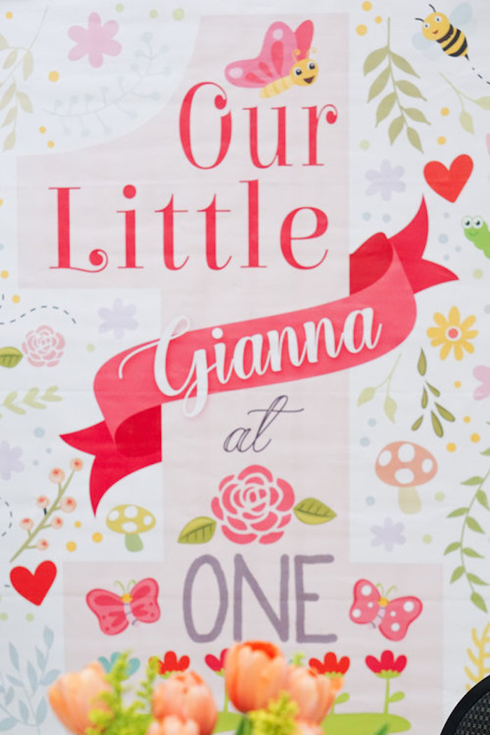 Floral printed backdrop from a Spring Inspired 1st Birthday Party on Kara's Party Ideas   KarasPartyIdeas.com (23)