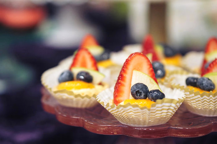Fruit tarts from a Spring Inspired 1st Birthday Party on Kara's Party Ideas | KarasPartyIdeas.com (19)