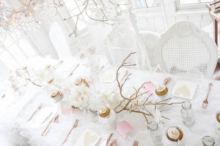 Guest tabletop from a Swan Lake Birthday Party on Kara's Party Ideas | KarasPartyIdeas.com (34)