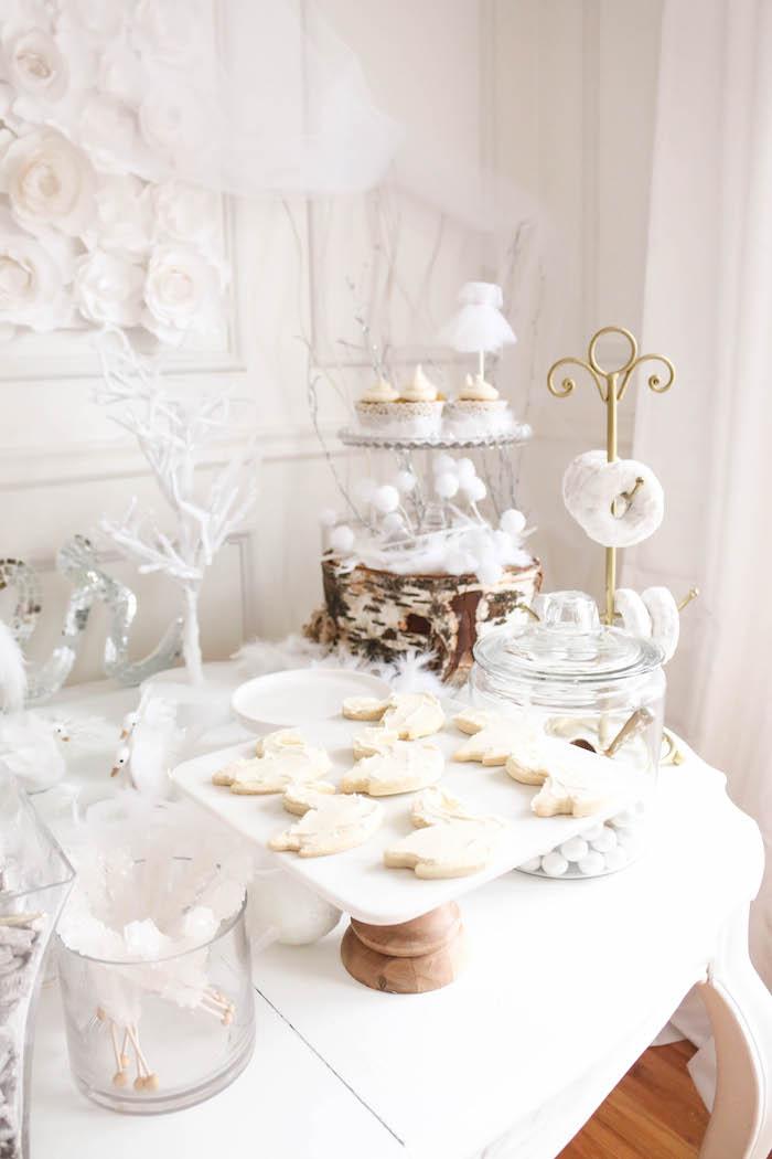 Dessert table from a Swan Lake Birthday Party on Kara's Party Ideas | KarasPartyIdeas.com (33)