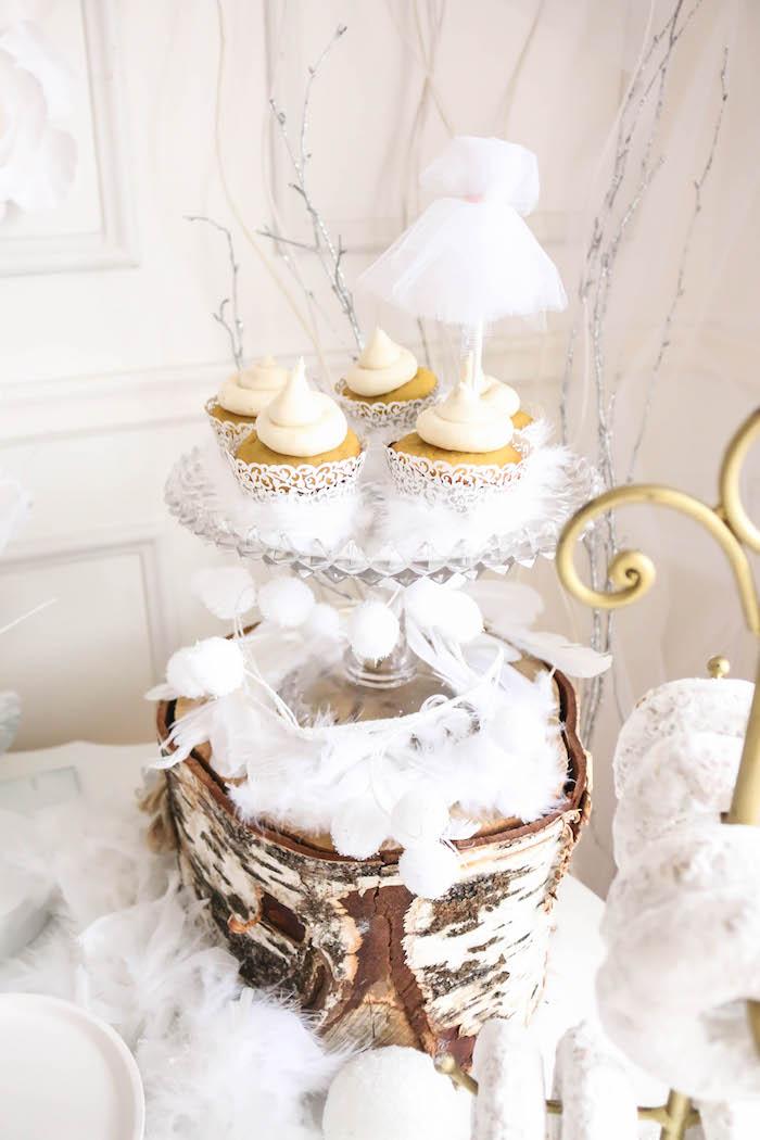 Cupcakes from a Swan Lake Birthday Party on Kara's Party Ideas | KarasPartyIdeas.com (31)