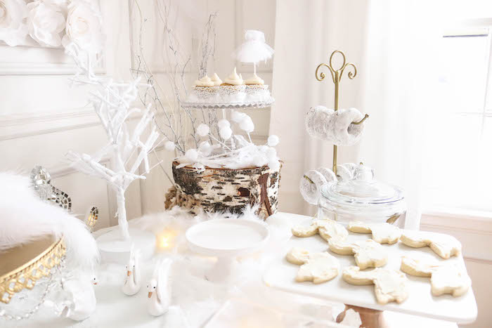 Sweet table details from a Swan Lake Birthday Party on Kara's Party Ideas | KarasPartyIdeas.com (27)