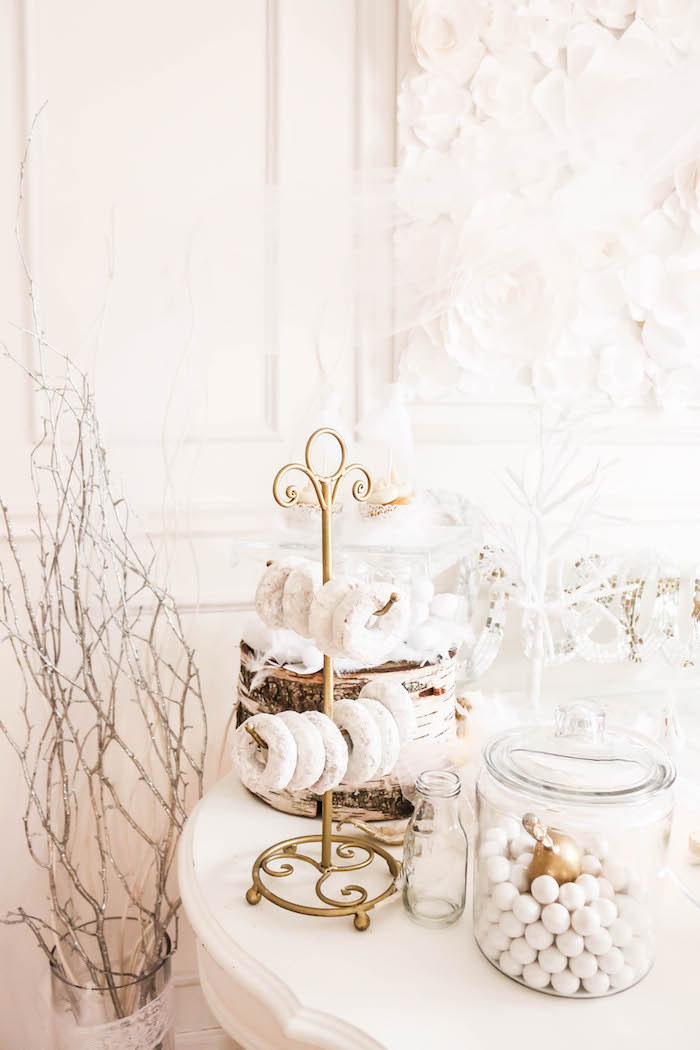 Decor and sweets from a Swan Lake Birthday Party on Kara's Party Ideas | KarasPartyIdeas.com (25)