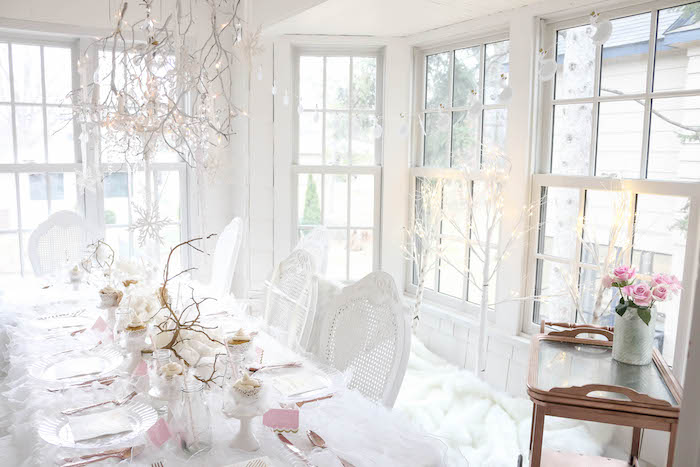 Guest table from a Swan Lake Birthday Party on Kara's Party Ideas | KarasPartyIdeas.com (40)