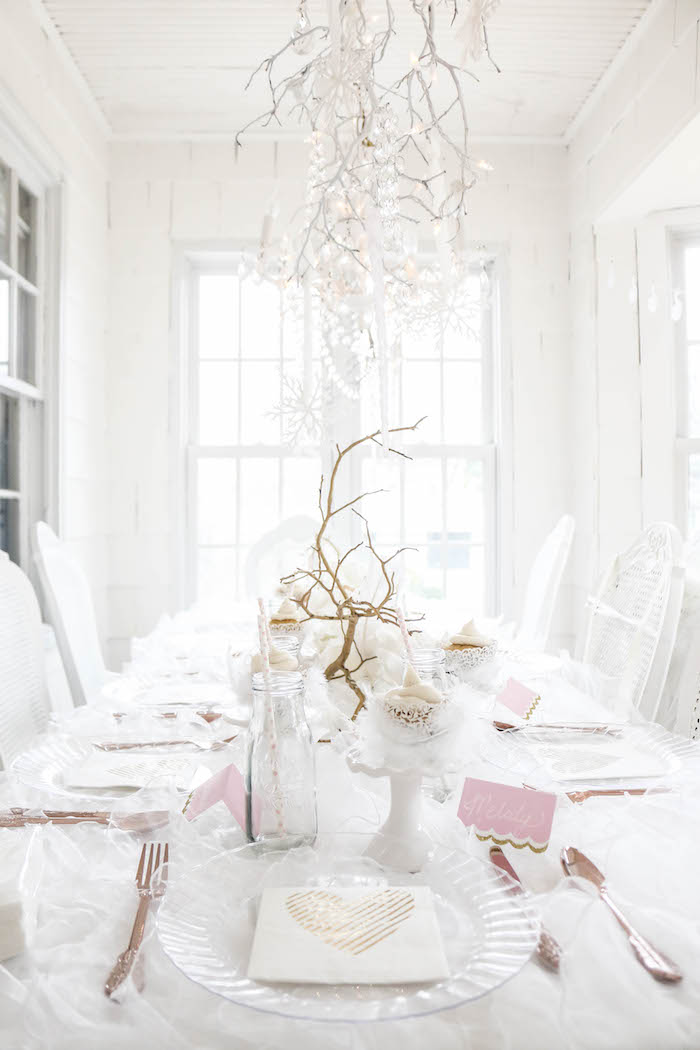 Guest table from a Swan Lake Birthday Party on Kara's Party Ideas | KarasPartyIdeas.com (39)