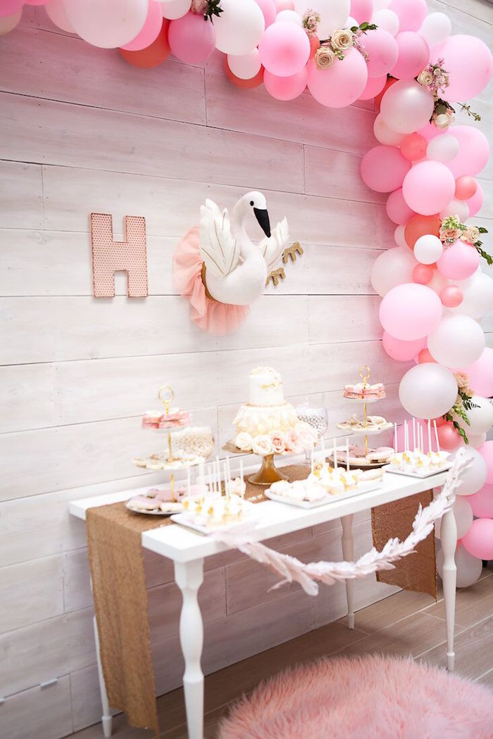 Cocktail Birthday Party Ideas Part - 26: Sweet Swan Birthday Party On Karau0027s Party Ideas | KarasPartyIdeas.com (33)