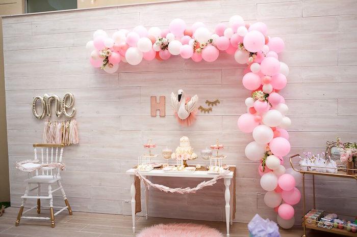 Sweet Swan Birthday Party on Kara's Party Ideas | KarasPartyIdeas.com (15)
