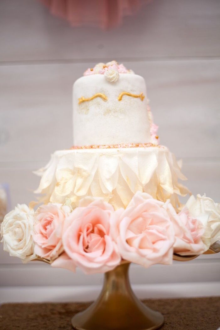 Swan Cake from a Sweet Swan Birthday Party on Kara's Party Ideas | KarasPartyIdeas.com (5)