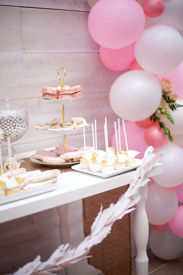 Vintage Wooden Chairs >> Kara's Party Ideas Magical Sweet Swan Birthday Party ...