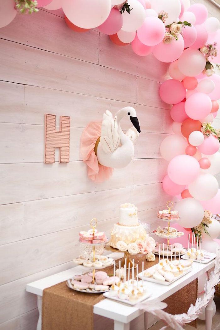 Kara S Party Ideas Magical Sweet Swan Birthday Party