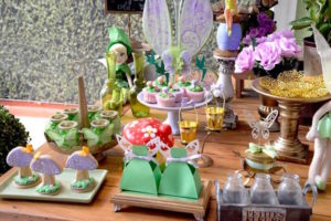 Dessert table decor + sweets from a Tinkerbell Fairy Birthday Party on Kara's Party Ideas | KarasPartyIdeas.com (15)