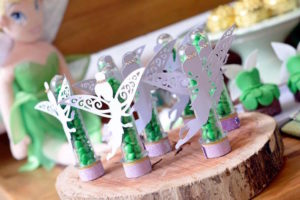 Tinkerbell favor tubes from a Tinkerbell Fairy Birthday Party on Kara's Party Ideas | KarasPartyIdeas.com (7)