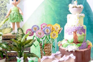 Tinkerbell flower pops from a Tinkerbell Fairy Birthday Party on Kara's Party Ideas | KarasPartyIdeas.com (24)