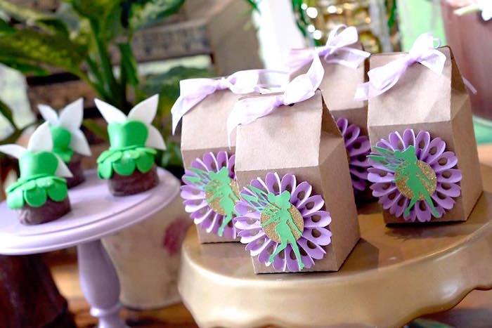 Tinkerbell favor boxes from a Tinkerbell Fairy Birthday Party on Kara's Party Ideas | KarasPartyIdeas.com (20)