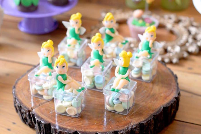 Mini plastic Tinkerbell favor boxes from a Tinkerbell Fairy Birthday Party on Kara's Party Ideas | KarasPartyIdeas.com (18)