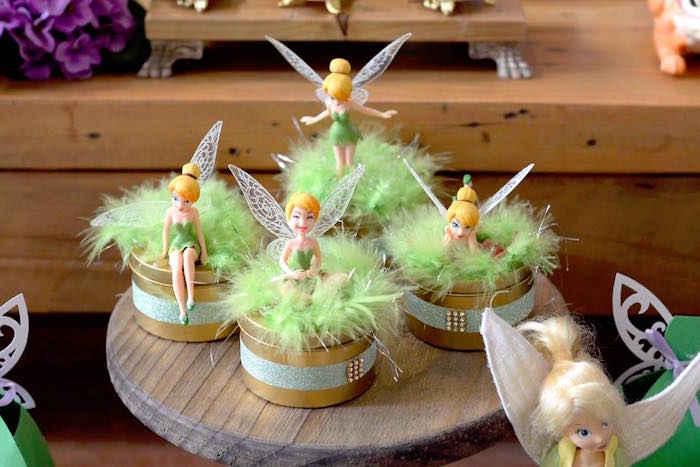 Tinkerbell tins from a Tinkerbell Fairy Birthday Party on Kara's Party Ideas | KarasPartyIdeas.com (17)