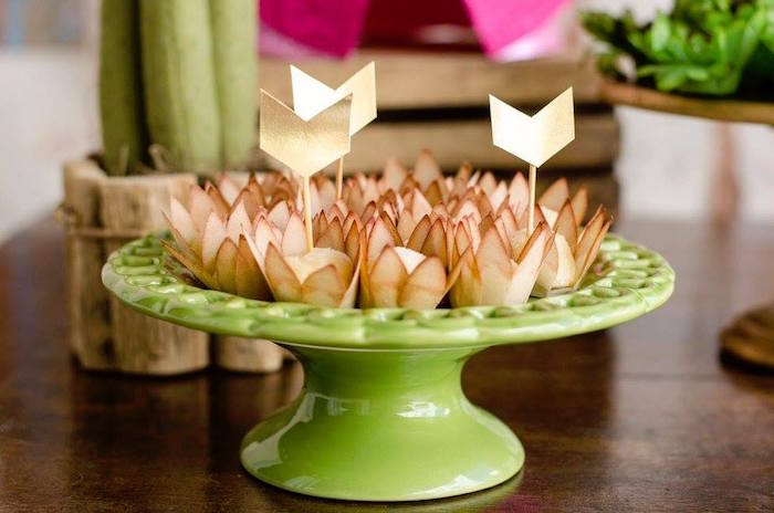 Arrowed sweets from a Tribal Cactus Birthday Party on Kara's Party Ideas | KarasPartyIdeas.com (12)