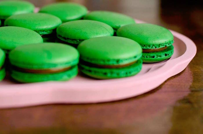 Green macarons from a Tribal Cactus Birthday Party on Kara's Party Ideas | KarasPartyIdeas.com (3)