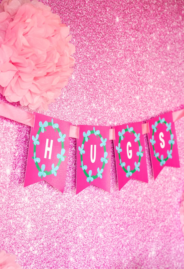 Party banner from a Trolls Birthday Party with FREE Printables on Kara's Party Ideas | KarasPartyIdeas.com (13)