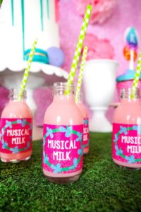 Musical Milk labels from a Trolls Birthday Party with FREE Printables on Kara's Party Ideas | KarasPartyIdeas.com (12)