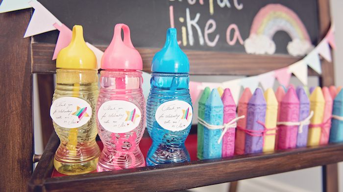 Colorful favors from a Trolls Inspired Birthday Party on Kara's Party Ideas | KarasPartyIdeas.com (16)