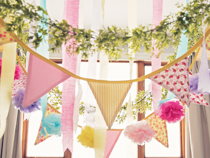 Banners, garland and bunting from a Trolls Inspired Birthday Party on Kara's Party Ideas | KarasPartyIdeas.com (14)